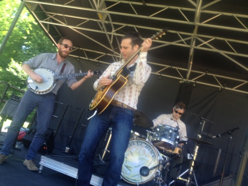 Roosevelt Dime was one of many bands at NYBG yesterday. Photo by J. Moss