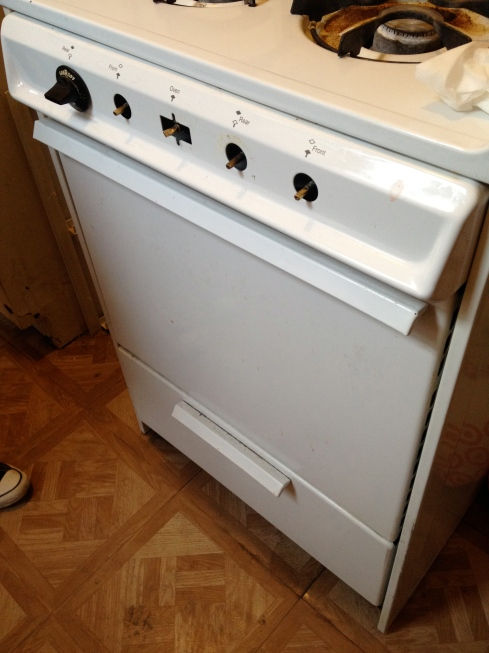 The stove in Rodriguez's apartment had no knobs when I visited. Photo by Jordan Moss