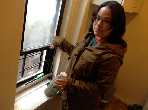 Iliana Rodriguez was not able to keep this window open in her kitchen, when I visited last April. Photo by Jordan Moss