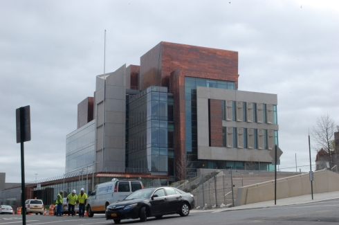 This Staten Island Courthouse is way behind schedule. Has there been any citywide coverage?  Photo by Jordan Moss