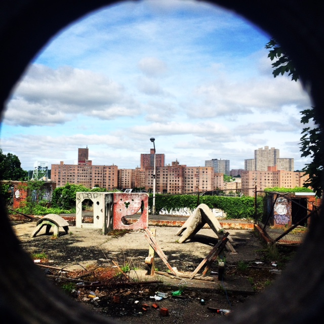 What was this empty area neighboring the 229th Street step street in Kingsbridge Heights? Photo by Jordan Moss