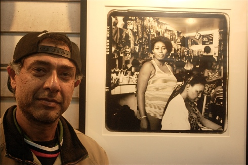 Bronx photographer Adi Talwar took two photos for the exhibit including this at a hair dresser in the area. Photo by Jordan Moss